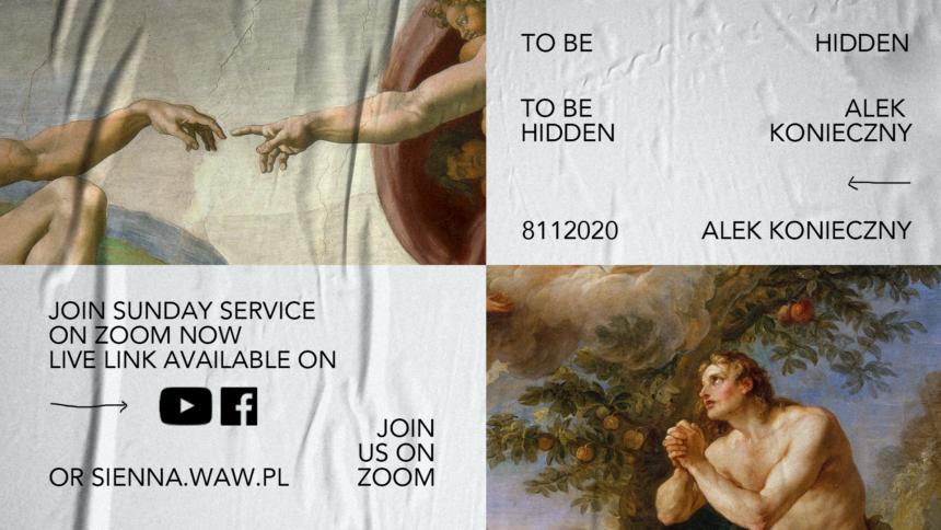 SUNDAY SERVICE ON ZOOM (8.11) – To be hidden (Alek Konieczny)