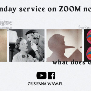 SUNDAY SERVICE ON ZOOM (6.12) – Lying tongue (Arek Kuczyński)